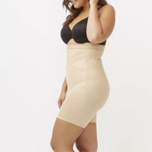 Shape By Cacique High-Waist Thigh Shaper in Beige